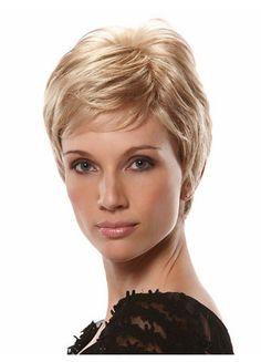 Short Blonde Top Grade Human Hair Wig