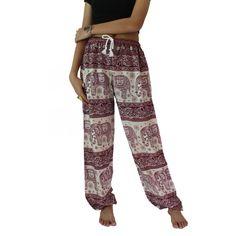 Unisex Boho Harem Pants Hippie Pants Yoga Pants Red (£8.62) ❤ liked on Polyvore featuring pants, black, women's clothing, red harem pants, black stretch pants, boho pants, red pants and red black pants