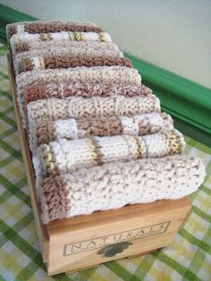 Dish Cloths Knitted and Crocheted One Dozen by CozyKitchenKnits, $48.00