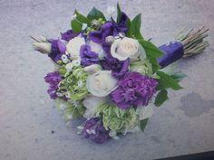 Purple, green and white bouquets « Weddingbee Boards
