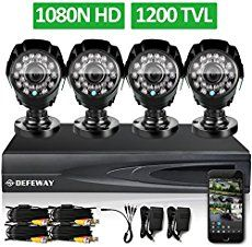 DEFEWAY DVR HD Outdoor Home Security Video Surveillance Camera System no Hard Drive ** Continue to the product at the image link. Home Security Tips, Wireless Home Security Systems, Security Alarm, Security Surveillance, Surveillance System, Security Cameras For Home, Safety And Security, Security Products, House Security
