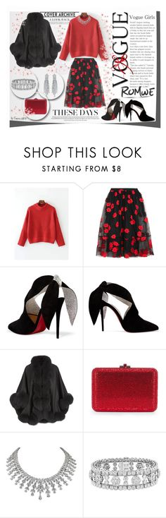 """""""ROMWE Show your Talent"""" by emperormpf ❤ liked on Polyvore featuring Simone Rocha, Christian Louboutin, Harrods and Van Cleef & Arpels"""