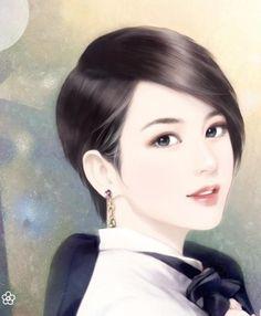 Chinese Drawings, Chinese Art, Korean Art, Asian Art, Chinese Romance Novels, Girl Face Drawing, Lovely Girl Image, Digital Art Girl, Painting Of Girl