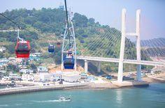 국내 최초 여수 해상케이블카! 운행 임박 - 엔지티비