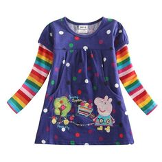 Girls Peppa Pig Shirts. Choice of Color
