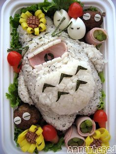 Totoro bento. The most beautiful food for the most beautiful film