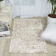 """Charlton Home Portleven Ivory/Taupe Area Rug Rug Size: 2'3"""" x 3'9"""""""