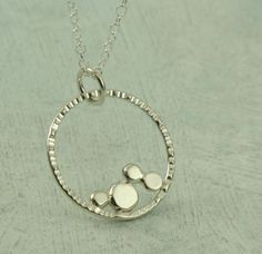 Stepping Stones Necklace   in sterling silver by KathrynRiechert, $40.00