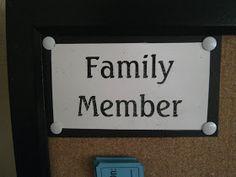 RobbyGurl's Creations: Family Chore Chart