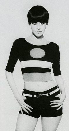 Peggy Moffitt in Rudi Gernreich Ensemble, 1960s