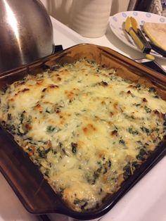 Keto Spinach Artichoke Chicken Casserole : ketorecipes