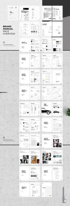 Brand Manual and Identity Template – Corporate Design Brochure – with real text!!!Minimal and Professional Brand Manual and Identity Brochure template for creative businesses, created in Adobe InDesign in International DIN A4 and US Letter format.This… #MANUALDESIGN