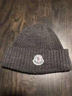 ... Unisex Gray 100% Virgin Wool Ribbed Knit Logo Beanie  fashion  clothing   shoes  accessories  unisexclothingshoesaccs  unisexaccessories (ebay link) a9f8e9d4bfe1