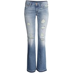 H&M Boot cut Low Jeans ($13) ❤ liked on Polyvore featuring jeans, pants, bottoms, h&m, light denim blue, boot-cut jeans, low rise boot cut jeans, low rise bootcut jeans, blue jeans and low rise jeans
