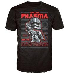 Star Wars E7 TFA: Captain Phasma Poster Pop! Tees! T-Shirt
