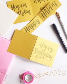 49 best i made it images on pinterest calligraphy drawing sunday 12pm the birthday card factory is open brush lettering and calligraphy m4hsunfo