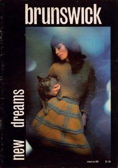 Brunswick 668 New Dreams Knitting Patterns Jacket Sweater Skirt Cardigan 1968 #Brunswick #KnittingPatterns