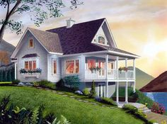 Bungalow Coastal Country Craftsman House Plan 65001