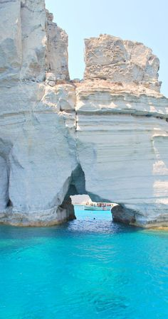 Kleftiko rocks on Milos island, Greece.