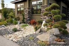 Front yard Rock garden idea.