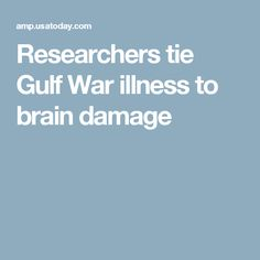 Researchers tie Gulf War illness to brain damage