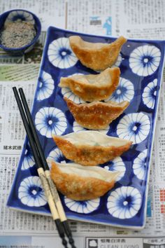 Chicken ginger and spring onion gyoza