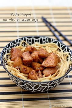 Poulet laqué au miel et à la sauce soja