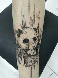 Tattoo#ink#urso#panda
