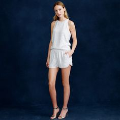 Laine racerback sequin shell and short