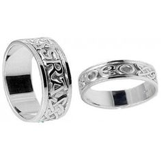 Unique Wedding Rings With Meaning Love Forever In Gaelic These Are Our Bands Celtic Knot