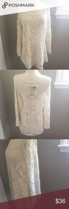 "NWT Lace Blouse NWT/ Feel free to ask any questions, make a reasonable offer, or add to a bundle or 15% off 2 or more items! 😃 Measurements Bust: Almost 18"" Length: 27"" Tops Blouses"