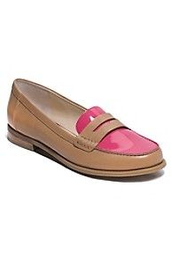 Colorblock leather loafer