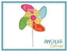 Whirly Pinwheel Applique Design