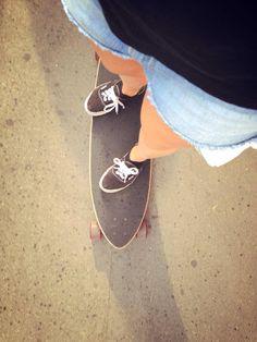 Longboard et short en jean