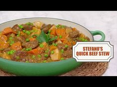 Stefano's Quick Beef Stew - In the Kitchen with Stefano Faita