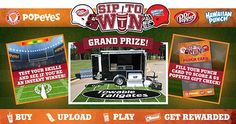 Hurry to win hundreds of instant win prizes including Towable Tailgate package valued at $17,000 and some other great prizes.  #Sweepstakes #Instantwin