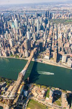 NYC. Manhattan bird's eye view, Queensboro Bridge // by O. Ben Tov