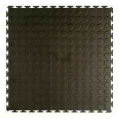 """Style Selections 20-1/2""""W x 20-1/2""""L Black Raised Coin Garage Vinyl Tile - Lowe's Canada"""