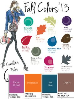 Color:  Fall  2013 Must-Haves, I think I like pretty much all of them. :)