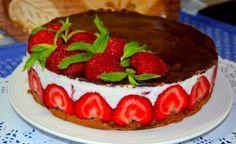 Mini tvarohový dortík s jahodami - FOTOPOSTUP | NejRecept.cz