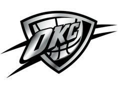 Okc Thunder Logo | Oklahoma City Thunder Silver Auto Emblem