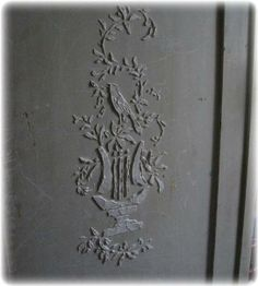 Step by step instructions on how to stencil stucco on furniture, walls or art. Convert it to miniature