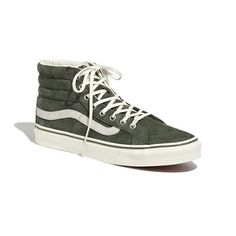 "Synonymous with skateboarders, surfers and Southern California (where the brand was founded in 1966), Vans is a true sneaker icon. Add some cool to your casual (for years to come) with these timeless suede high-tops. When you select your size below, ""H"" equals a half size.  <ul><li>Unisex sizing: Please size down 1 1/2 sizes; a size 4 1/2 is a women's size 6.</li><li>Water-resistant Scotchgard™ suede upper.</li><li>Vulcanized waffle rubber sole.</li><li>Import.</li></ul>"