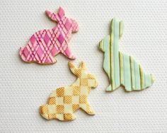 Pattern Bunny Cookies from @Cakegirls