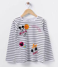 Blusa infantil    Manga longa    Gola redonda    Listrada    Com estampa    Marca: Mickey    Tecido: meia malha    Composição: 100% algodão         COLEÇÃO INVERNO 2016         Veja mais opções de produtos    Mickey Mouse.