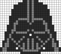 Darth Vader Hama Bead Pattern