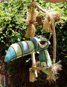One of my favorite (Tiki Room) toucan Birds (blue-green-bird) by Tiki tOny