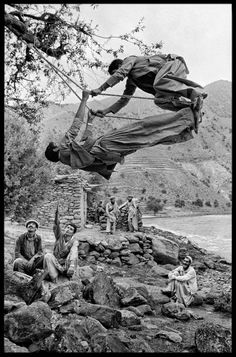 Young Mujahideen on Swing (1980 CE Afghanistan)