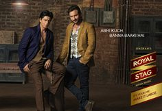 Shah Rukh and Saif for Royal Stag Print ads