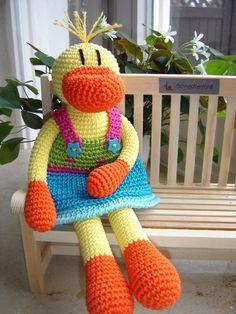 Ida, crochet Duck ♥